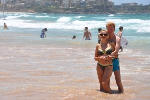 Kalėdų išvakarėse išsimaudėme Sidnėjaus paplūdimyje
