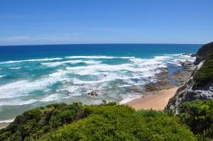 Vaizdas nuo kelio Great Ocean Road