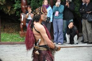Maorių svečių pasitikimo ceremonija